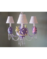 Silly Bear Lighting Snappy Snails 4 - Light Shaded Classic / Traditional Chandelier TC37-4A- Shade: Simply Lavender