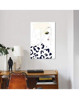 """East Urban Home 'Draw The Line' Graphic Art Print on Canvas FUSC5566 Size: 18"""" H x 12"""" W x 1.5"""" D"""