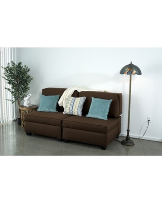 """Anke 108"""" Wide Reversible Modular Sofa & Chaise with Ottoman"""