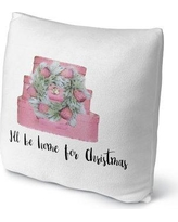 """Kavka ILL Be Home For Christmas Throw Pillow FPL-FBS18-18X18-TEL1323 / FPL-FBS16-16X16-TEL1323 Size: 16"""" H x 16"""" W x 4"""" D"""