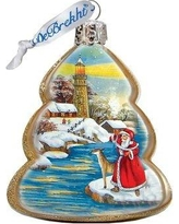 The Holiday Aisle Lighthouse Santa Shaped Ornament THLY6779