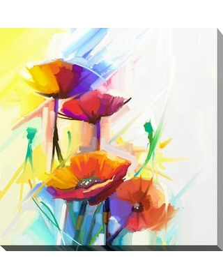 "Picture Perfect International 'Flower Grown Wild' Painting Print on Wrapped Canvas 704-4061 Size: 18"" H x 18"" W x 1"" D"