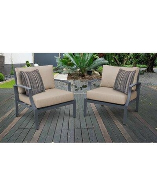 Ivy Bronx Benner Patio Chair with Cushions W001350597 Cushion Color: Wheat