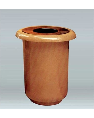 Allied Molded Products Galleria 35 Gallon Trash Can 7G3032T Color: Hunter Green