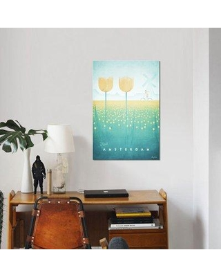 "East Urban Home 'Amsterdam' Graphic Art Print on Canvas UBAH5190 Size: 26"" H x 18"" W x 0.75"" D"