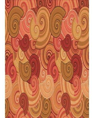 Amazing Deal On East Urban Home Celyn Abstract Orange Red Brown Area Rug X113662873 Rug Size Rectangle 3 X 5
