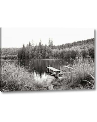 "Ebern Designs 'Baker Lake Dock' Photographic Print on Wrapped Canvas BI156038 Size: 16"" H x 24"" W x 1.5"" D"