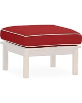 Universal Ottoman Sectional Box Cushion Set, Sunbrella(R) Contrast Piped, Jockey Red