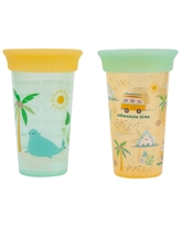 The First Years 2pk Sip Around Spoutless Cup - Beach - 9oz