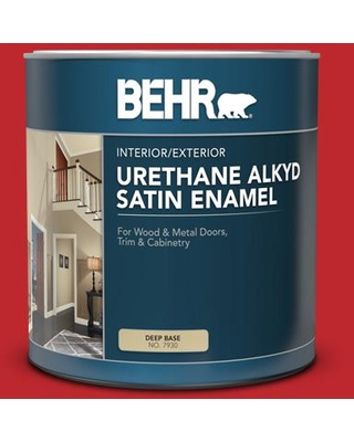 New Savings On Behr 1 Qt P150 7 Flirt Alert Satin Enamel Urethane Alkyd Interior Exterior Paint
