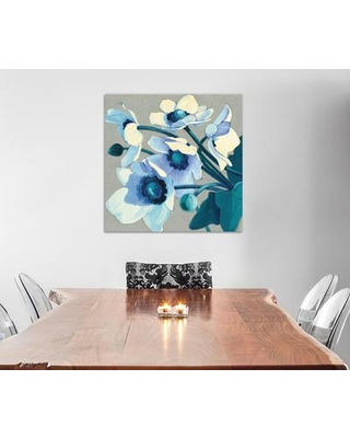 """East Urban Home Anemones Japonaises III Painting Print on Wrapped Canvas ESHM6999 Size: 26"""" H x 26"""" W x 1.5"""" D"""