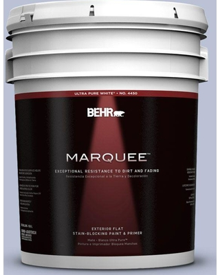 BEHR MARQUEE 5 gal. #590E-3 Hyacinth Tint Flat Exterior Paint and Primer in One