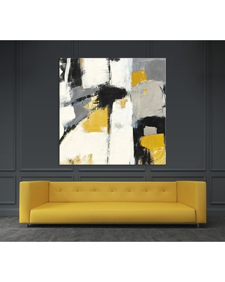 "Clicart 54 in. x 54 in. ""Yellow Catalina I"" by Mike Schick Printed Framed Canvas Wall Art"