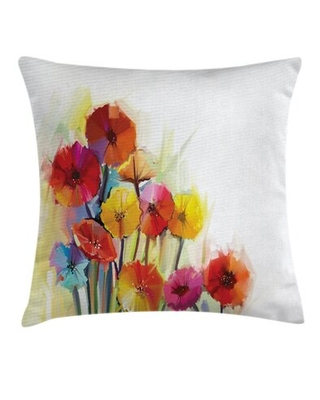"""Flower Indoor / Outdoor Floral 28"""" Throw Pillow Cover East Urban Home"""