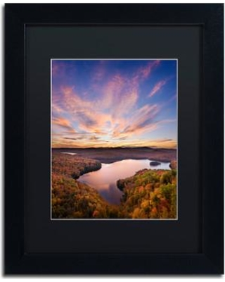 """Trademark Fine Art 'View from the Ledge' Framed Photographic Print on Canvas ALI3838-B1 Size: 14"""" H x 11"""" W x 0.5"""" D Matte Color: Black"""