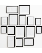 Gallery in a Box, Black Frames - Set of 15