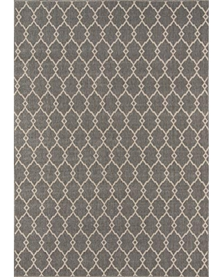 """Momeni Rugs , Baja Collection Contemporary Indoor & Outdoor Area Rug, Easy to Clean, UV protected & Fade Resistant, 5'3"""" x 7'6"""", Grey"""
