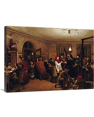 """East Urban Home 'The Departure For America' Print on Canvas UBHM1483 Size: 27"""" H x 36"""" W x 2"""" D"""