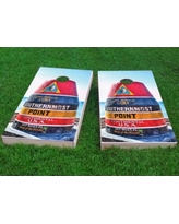 "Custom Cornhole Boards Southernmost Point Cornhole Game CCB143 Size: 48"" H x 24"" W, Bag Fill: All Weather Plastic Resin"