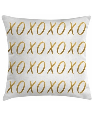 """Xo Decor Affection Sincere Love Square Pillow Cover East Urban Home Size: 18"""" x 18"""""""