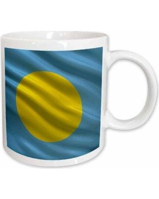 East Urban Home Flag of Palau Waving in the Wind Coffee Mug W000655192