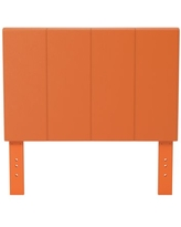 Furniture of America Mellie Faux Leather Headboard, Twin, Camel