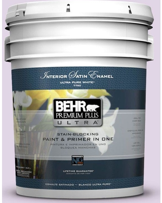 BEHR ULTRA 5 gal. #660A-2 Chateau Rose Extra Durable Satin Enamel Interior Paint & Primer