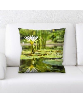 East Urban Home Water Lily Throw Pillow W000010775