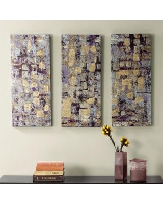 Shopping Special For Madison Park 3 Piece Glided Violet Canvas Wall Art Set
