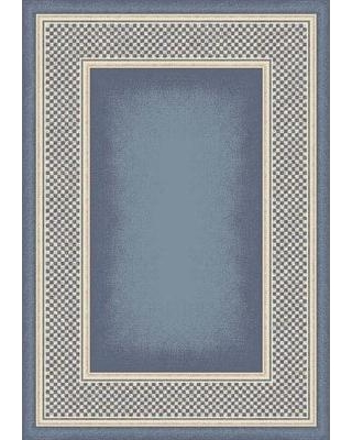 """Astoria Grand Shrout Light Lapis Old Gingham Area Rug W000905204 Rug Size: Rectangle 10'9"""" x 13'2"""""""