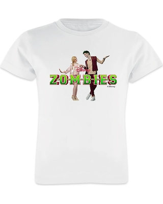 ZOMBIES: Zed & Addison Holding Hands T-Shirt for Girls Customizable Official shopDisney