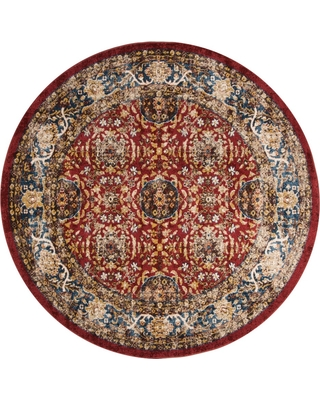 6'7 Medallion Round Area Rug Red/Royal - Safavieh, Blue Red