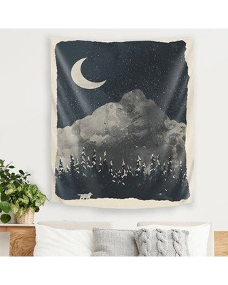 """East Urban Home Winter Finds The Wolf by NDTank Tapestry FSCS0328 Size: 36"""" H x 26"""" W x 1"""" D"""