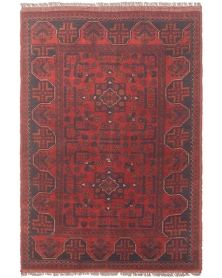 Hand-knotted Mohammadi Navy Wool Rug ECARPETGALLERY - 3'1 x 4'8