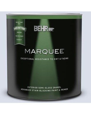 BEHR MARQUEE 1 qt. #620C-1 Winter Ice Semi-Gloss Enamel Exterior Paint & Primer