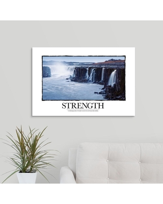 "GreatBigCanvas ""Inspirational Motivational Poster: In challenging waters""by Kate Lillyson Canvas Wall Art, Multi-Colored"