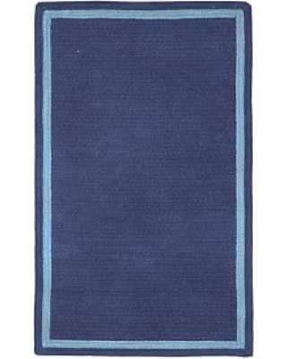 Capel Chenille Rug 9 X 12 Rectangle Dark Navy With Blue