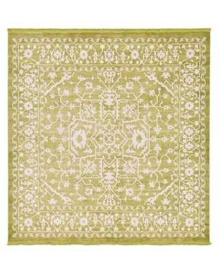 New Deal For Classique Geometric Green Area Rug Rugpal Rug Size Runner 2 7 X 10