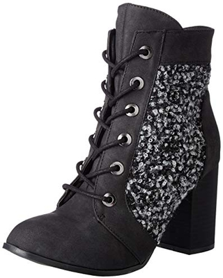 2 Lips Too Women's Too Lazlo Ankle Boot, Black, 6 M US