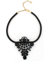 Women's Knotty Leather & Crystal Statement Necklace