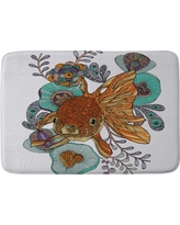 "Valentina Ramos Little Fish Cushion Bath Mat (36""x24"") Orange - Deny Designs, Orange Sorbet"