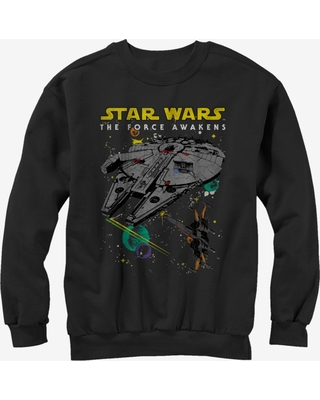 Star Wars Episode VII The Force Awakens Millennium Falcon and X-Wing Sweatshirt