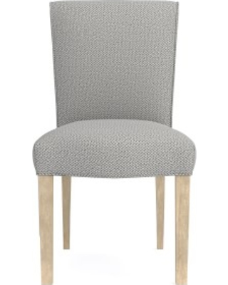 Fitzgerald Dining Side Chair, Perennials Performance Chenille Weave, Grey, Heritage Grey Leg