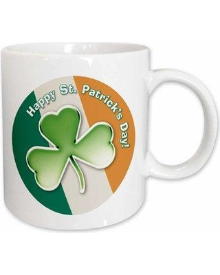 East Urban Home Chic Clover with Text Happy St Patricks Day Coffee Mug X111296717