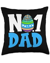 FELLINSH Father's Day Day Shirt Father's Bithday Gift for Best Dad Papa Throw Pillow, 18x18, Multicolor