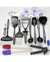 Chef Craft 23 Piece Nylon Select Kitchen Tool and Gadget Utensil Set 4206 Color: Gray