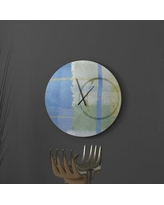 Find Deals On Latitude Run Likely Auspicious Abstract Metal Wall Clock Metal In Blue Green Size Small Wayfair 30937e32aaf241d7bfb667688219d8fe