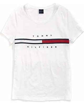 387ed43fd22 Tommy Hilfiger Adaptive Women s T Shirt with Magnetic Closure Signature  Stripe Tee
