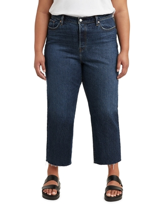 levi's Wedgie High Waist Raw Hem Straight Leg Jeans, Size 16 in Salsa Roll Plus at Nordstrom