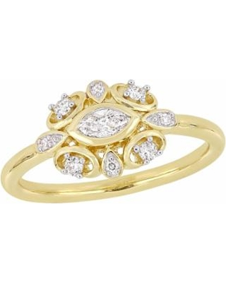 Stella Grace 10k Gold 1/4 Carat T.W. Diamond Ring, Women's, Size: 6, Yellow